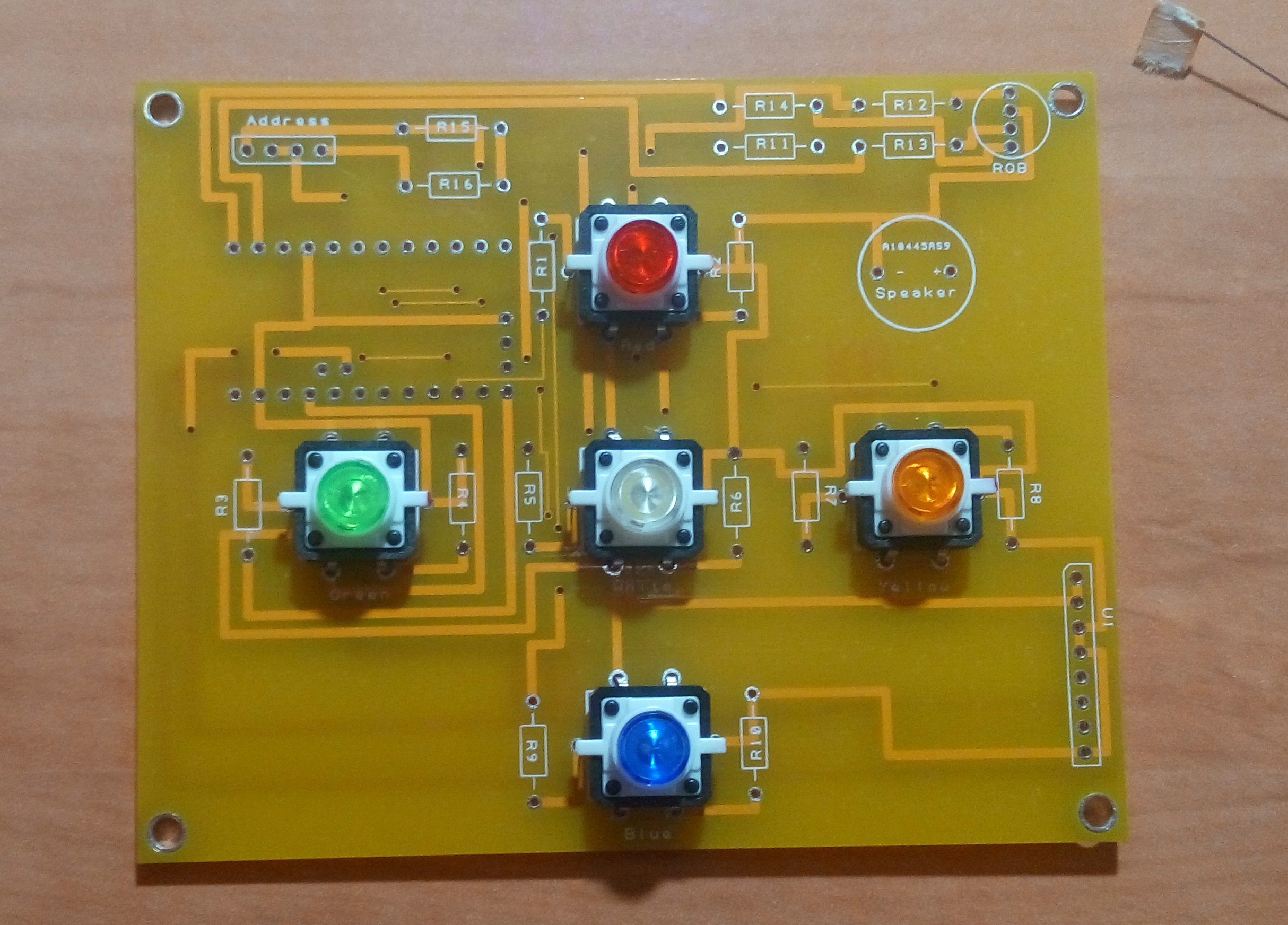 Step 2 - Add 5x Tactile 12x12 LED Button